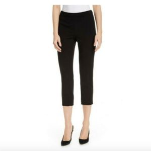 THEORY BLK CROP SIDE SLIT WOOL PANTS 6 GORGEOUS!